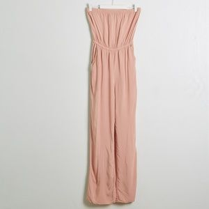 Forever 21 Blush Strapless Jumpsuit with Pockets